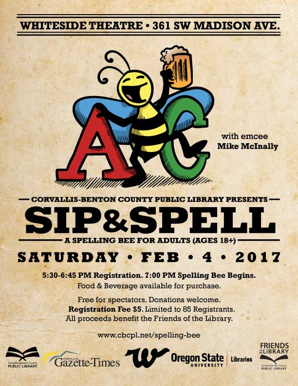 3rd Annual Sip Spell Spelling Bee For Adults Corvallis Calendar
